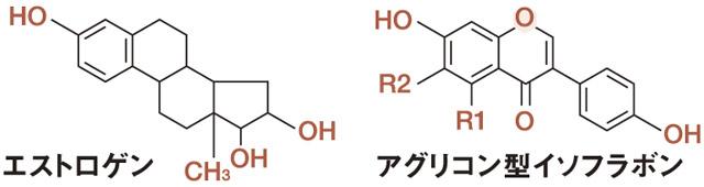 イソフラボンの分子構造