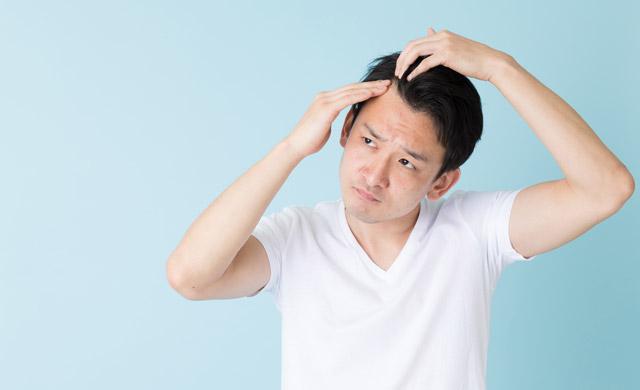 頭頂部とM字の薄毛
